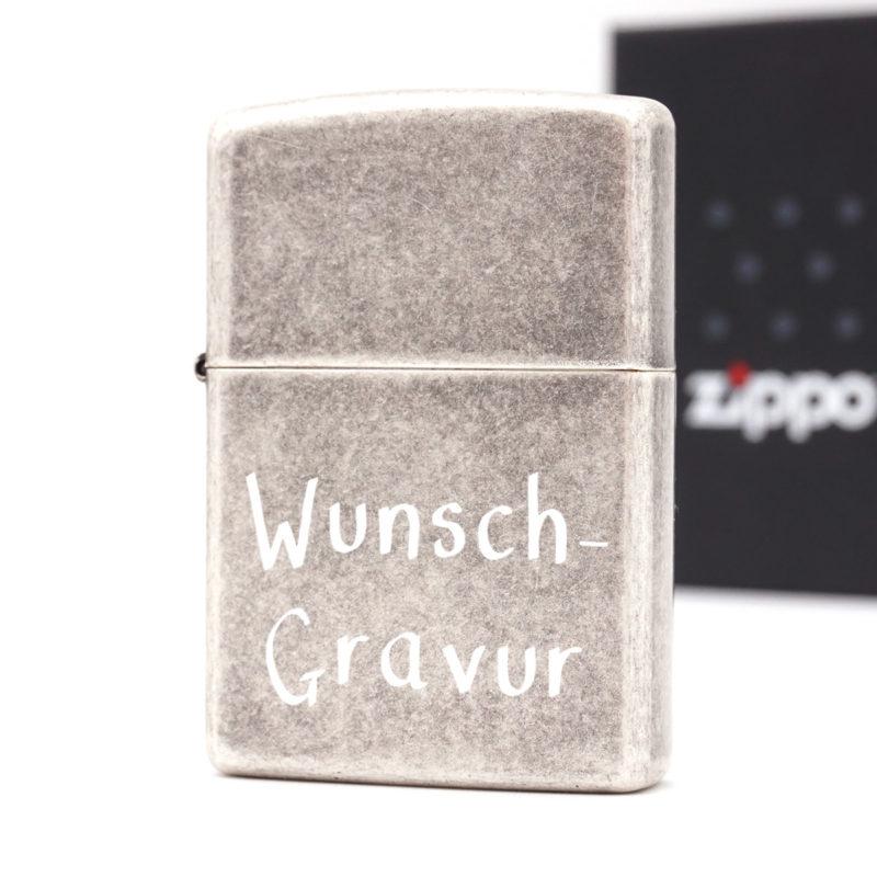 Zippo AntiqueSilber