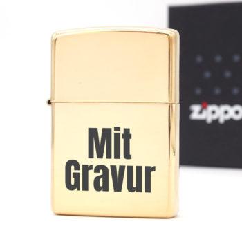 Zippo Gold poliert